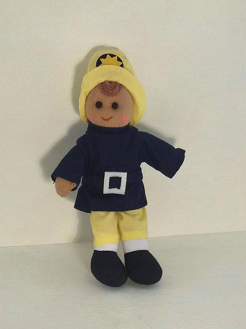 Fireman Rag Doll Small