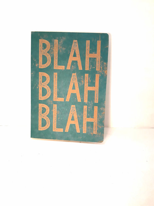 A5 'Blah Blah Blah' Notebook