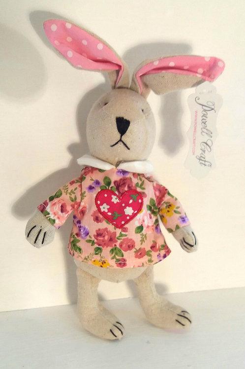 Rabbit with Love Heart Dress