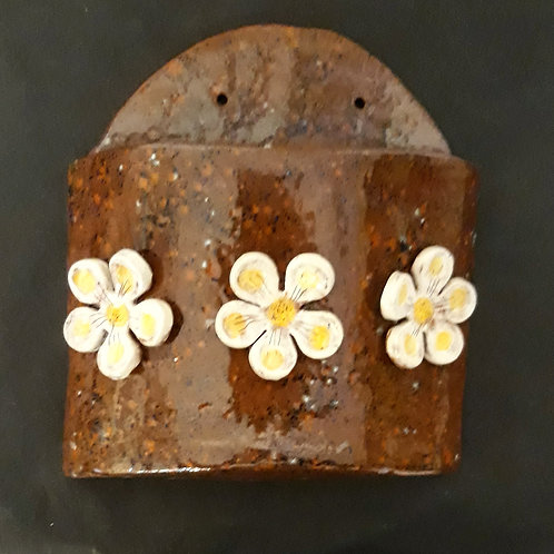 Hand Crafted Ceramic Wall Vase/ Flower Pot