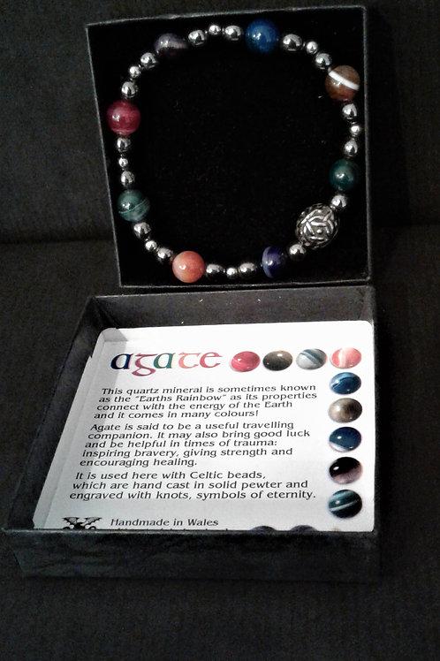 Handmade Celtic Agate Bracelet
