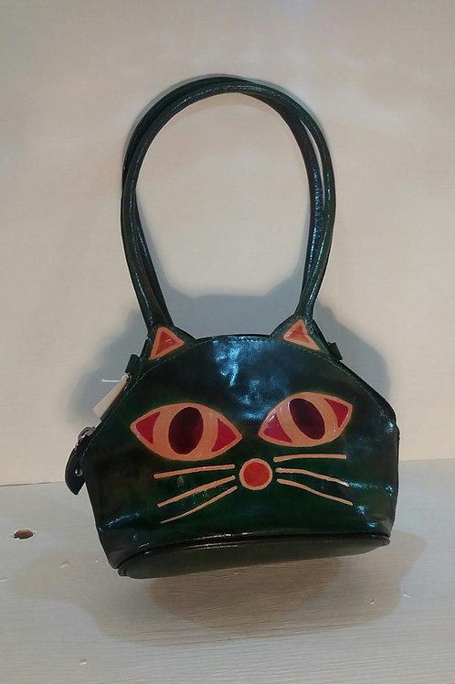 Cat leather handbag