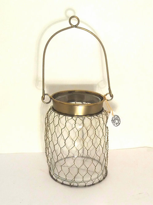 Clear Glass and Bronze Tea light Holder