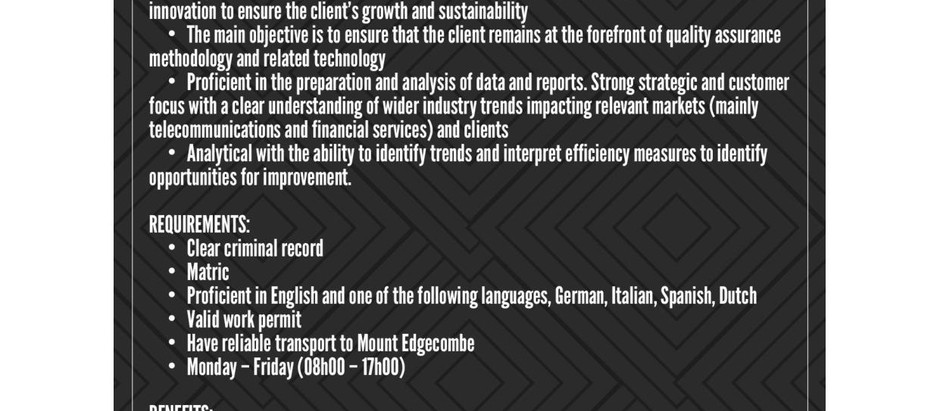 Job Opportunity - MultiLingual Agent - SmartX Solutions