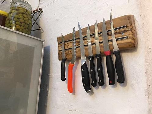 מתלה סכינים מגנטי מעץ