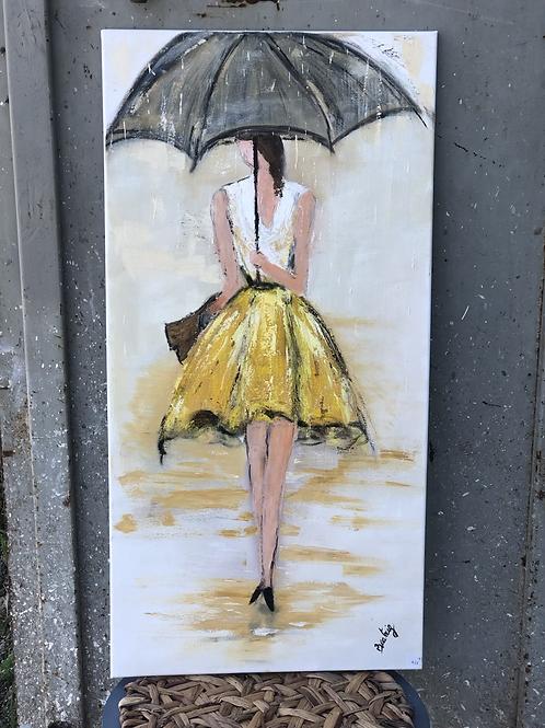 אישה עם מטריה