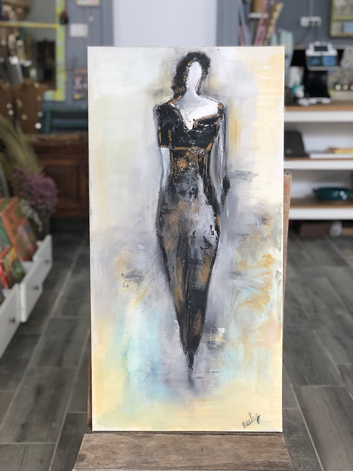ציור שמן- האישה המסתורית
