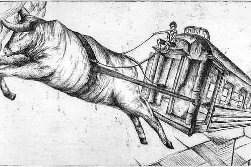 תחריט שור ועגלה