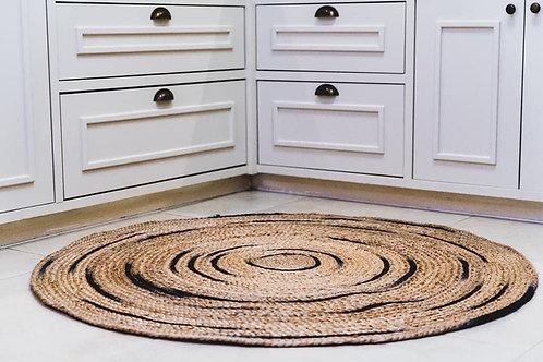 שטיח יוטה עגול ועבה