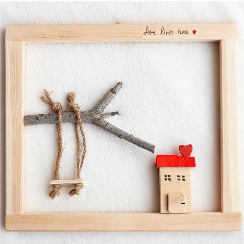בית ונדנדת עץ