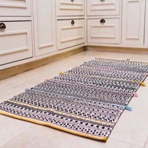 שטיח קלוע 100% כותנה