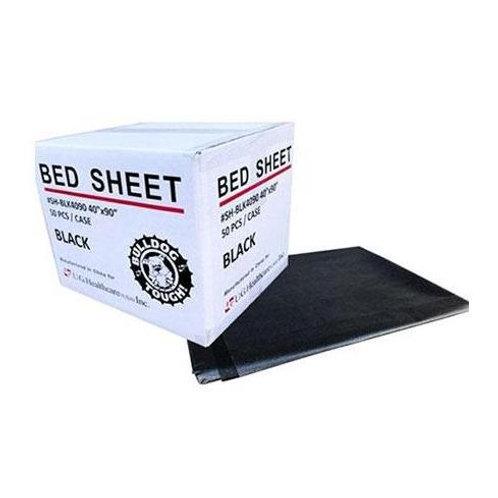 "Bulldog Tough Black Drape Sheets 40"" x 90"""