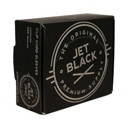 Jet Black Clip Cord Sleeves 200ct