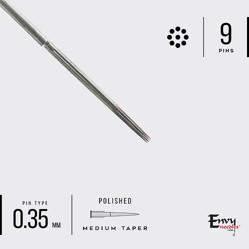 Envy 9 Round Traditional Liner Needle