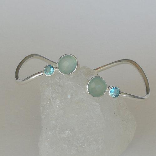 Blue Topaz & Chalcedony Bracelet