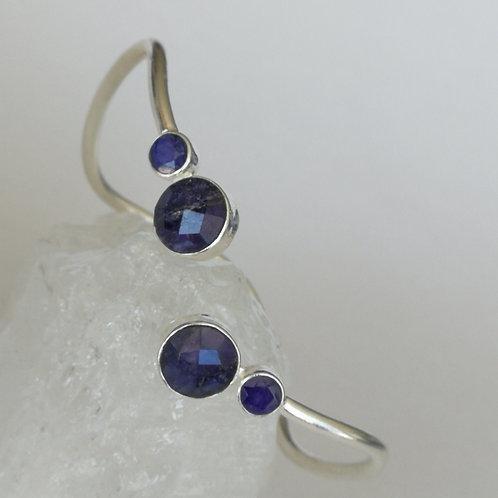 Blue Sapphire Adjustable Bangle