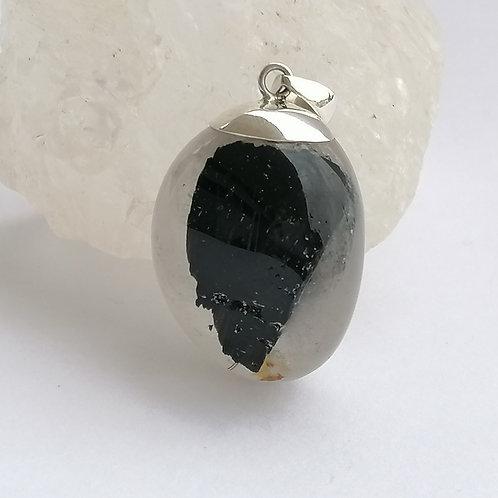 Black Tourmaline Clear Quartz
