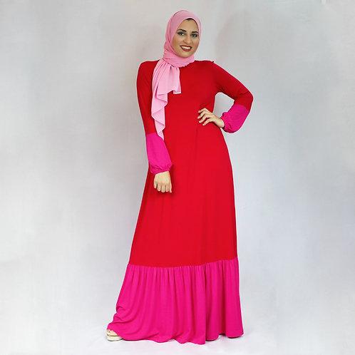 Vestido Blocos Vermelho