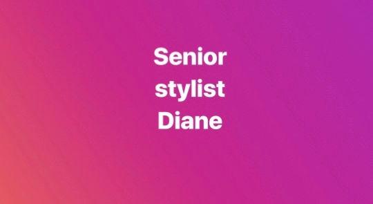 blowdry/finish from senior stylist diane