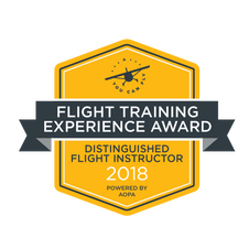 2018 AOPA Flight Training Experience 'Distinguished Flight Instructor' Award Winner