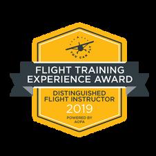 2019 AOPA Flight Training Experience 'Distinguished Flight Instructor' Award Winner