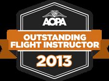 2013 AOPA Outstanding Flight Instructor