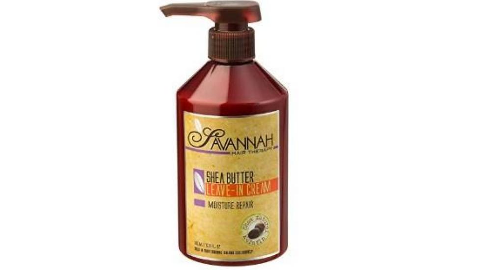 Savannah Hair Therapy Leave In Cream - Moisture Repair Treatment - Shea Butter