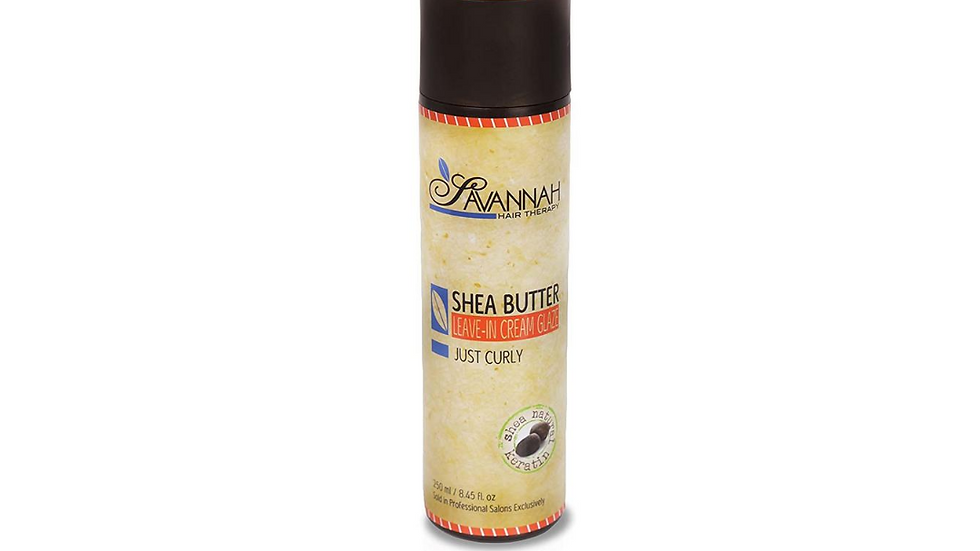 Leave In Cream-Glaze Just Curly Treatment - Shea Butter, Cotton and Silk Protein