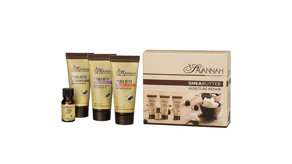 Moisture Repair Treatment Travel Kit - shampoo, Mask, Leave in Cream and Oil For