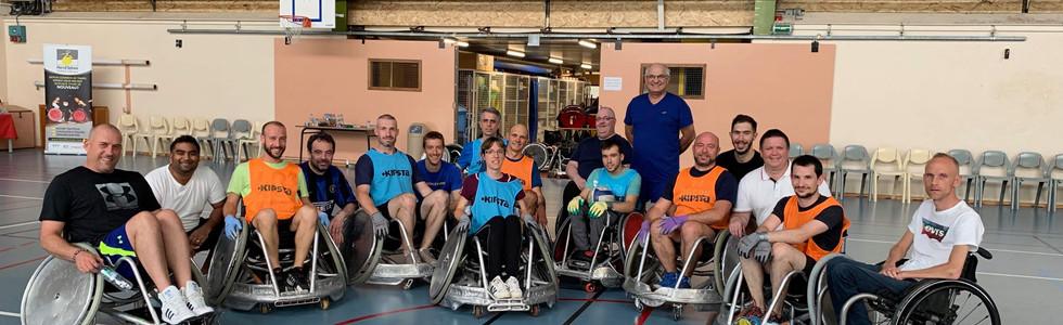Après midi rugby fauteuil pour Michelin