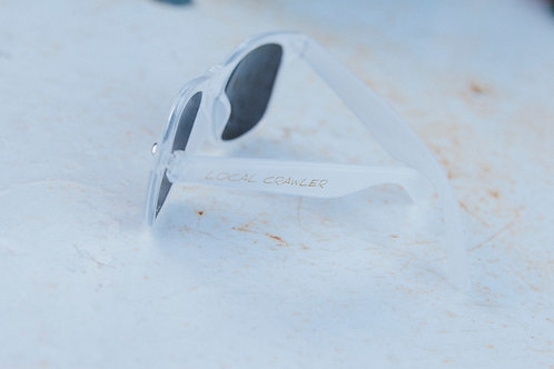 SUN GLASSES - Frost with gold text