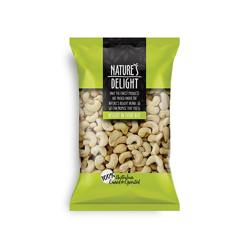 CASHEWS ROASTED AND UNSALTED 400g