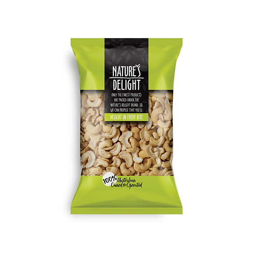 CASHEW HALVES ROASTED AND SALTED 400g