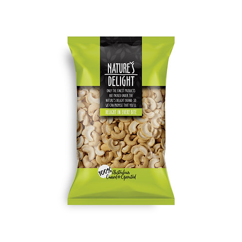 CASHEW HALVES ROASTED AND UNSALTED 400g
