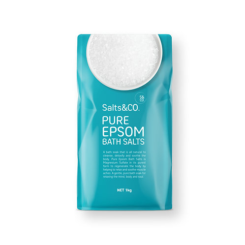 SaltsAndCo PURE EPSOM BATH SALTS 1kg