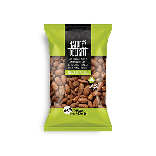 AUSTRALIAN ALMONDS DRY ROASTED 500g