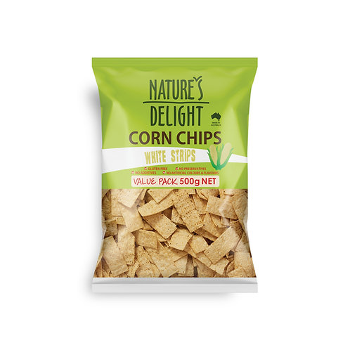 CORN CHIPS WHITE STRIPS 500g