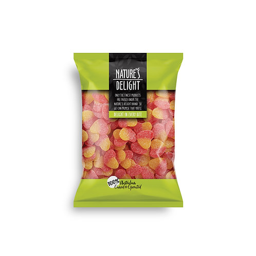 SOUR PEACH HEARTS 300g
