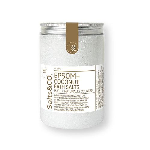 SaltsAndCo EPSOM + COCONUT BATH SALTS 900g
