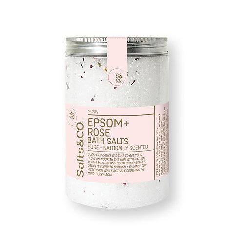 SaltsAndCo EPSOM + ROSE BATH SALTS 900g