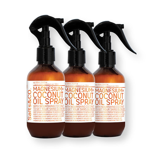 SaltsAndCo MAGNESIUM OIL + COCONUT SPRAY TRIPLE BUNDLE 3 x 200ml