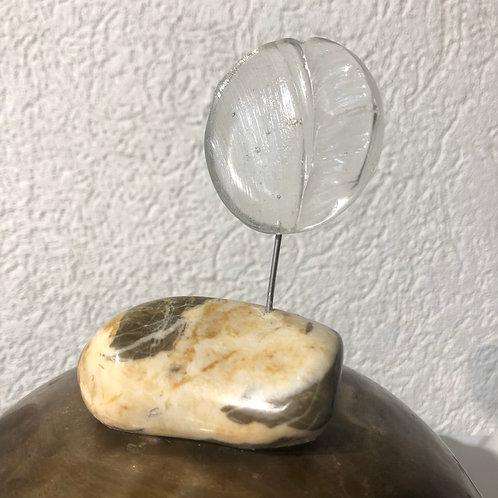 Verre Vibratoire Ø env. 5 cm - monté sur une pierre suisse
