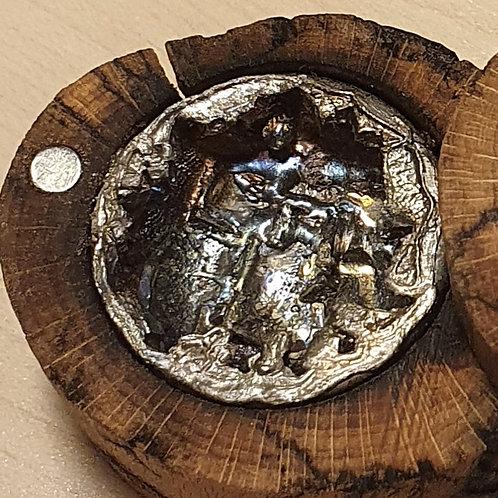Géode de bismuth  coulée dans boîte - Le Bois Arborescent ®