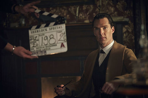 Sherlock The Abominable Bride - filming at The Bottle Yard Studios