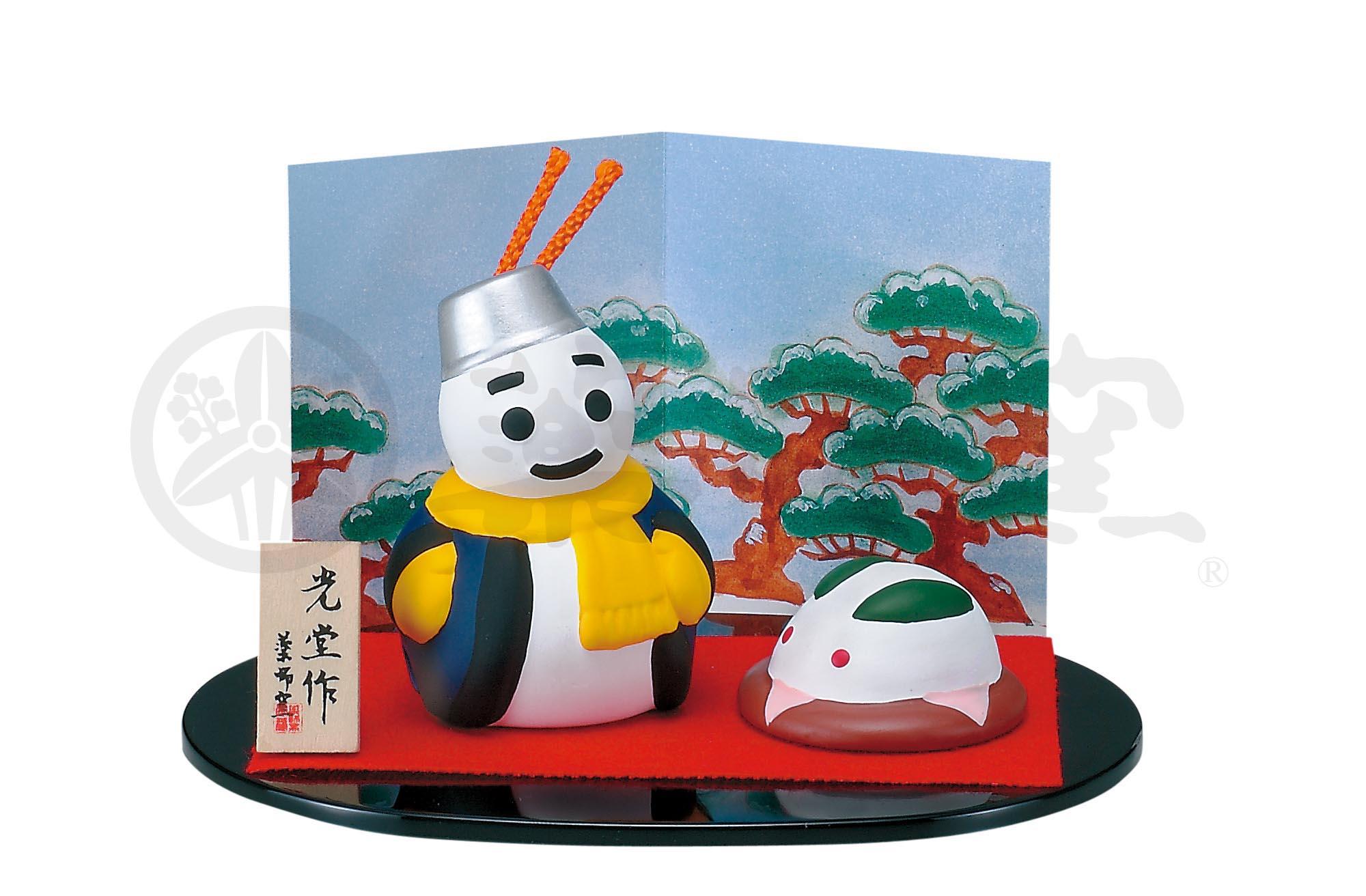1134錦彩雪だるま飾り(土鈴)
