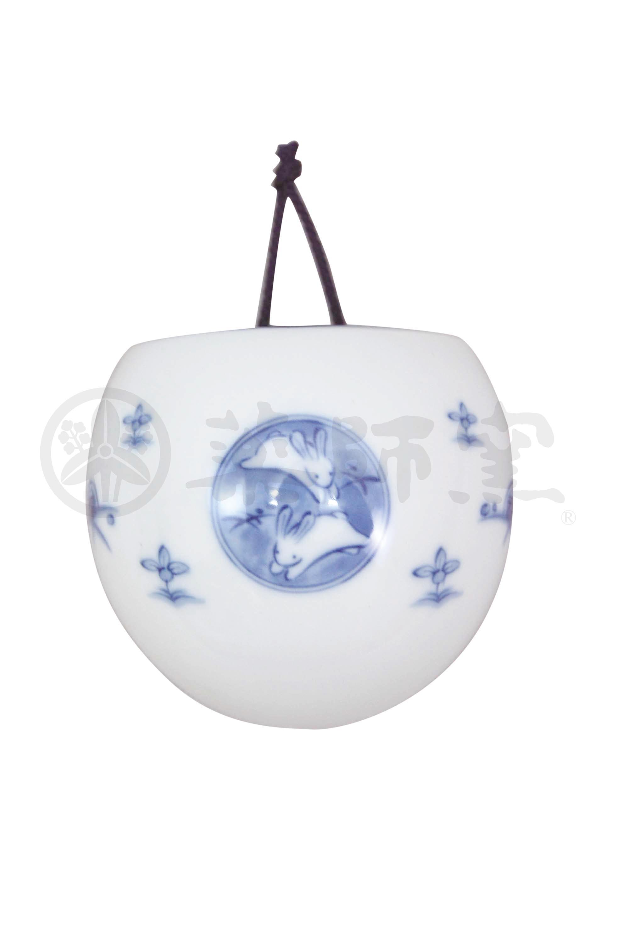 6517染付け壁掛け花瓶(お椀型)
