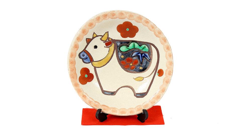 K21-03 丑 干支絵皿