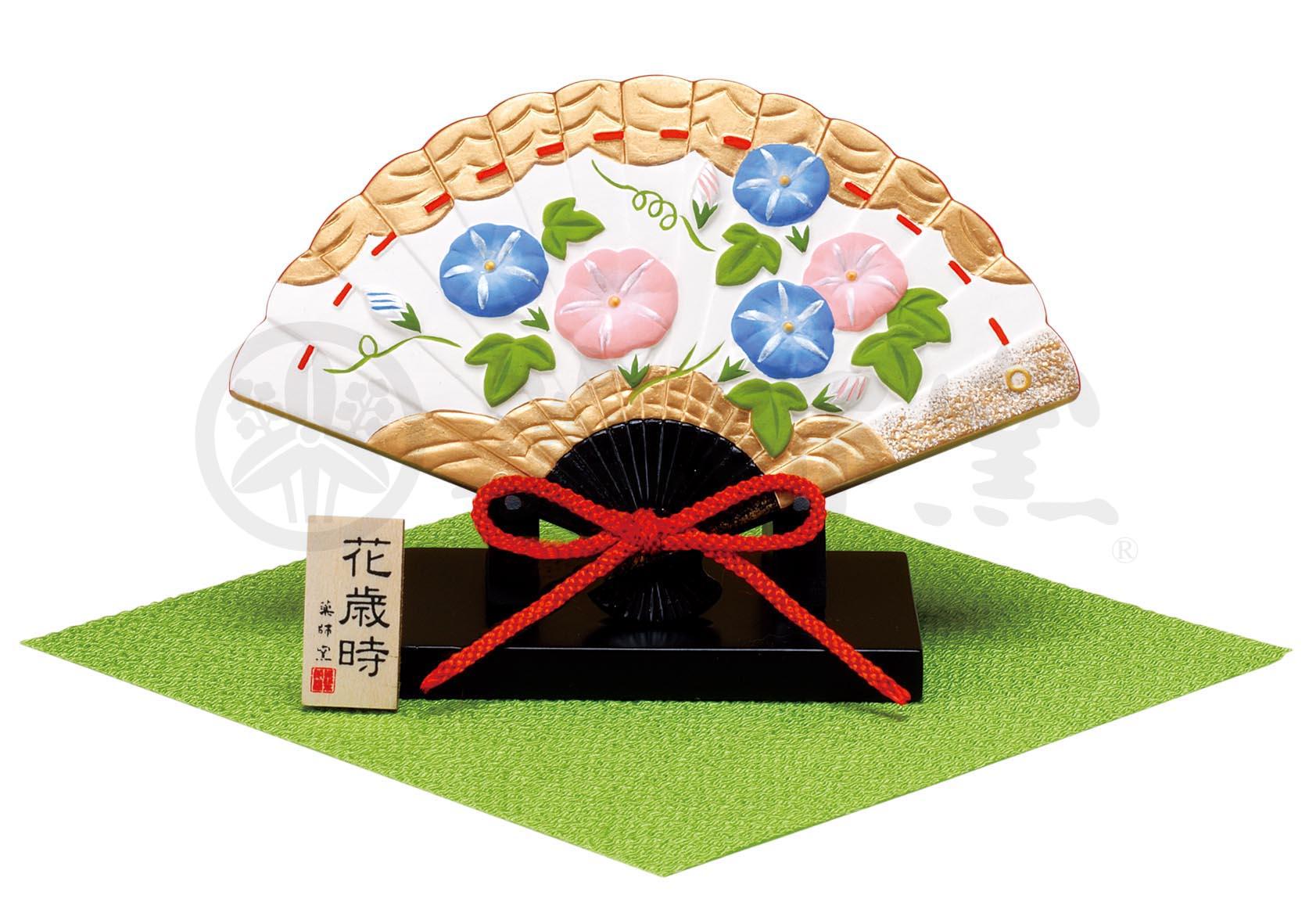 1326錦彩花歳時飾扇(朝顔)