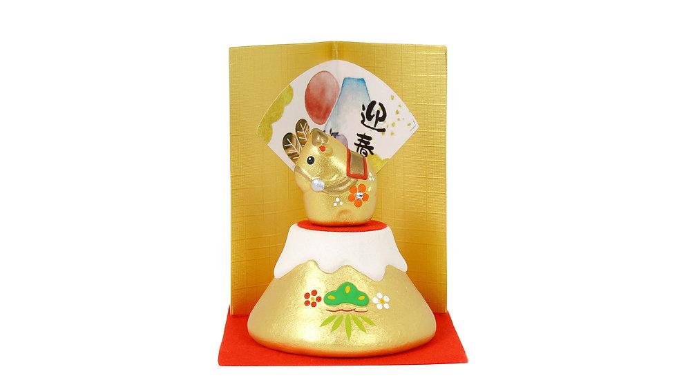 K21-12 丑 金富士飾り