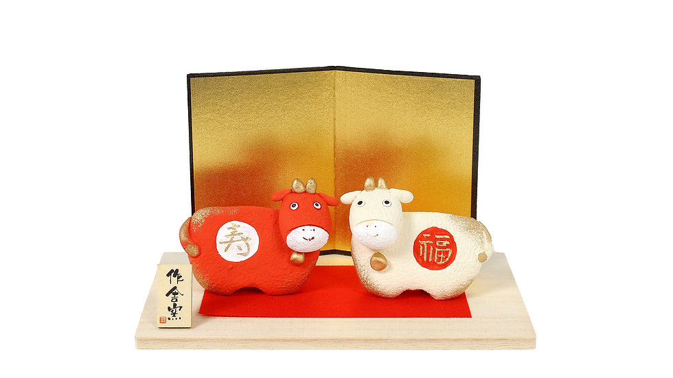 K21-17 丑 福寿飾り